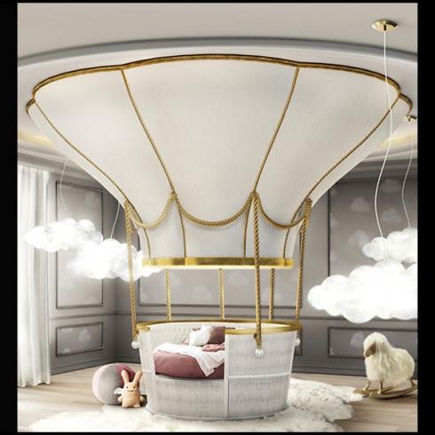 lit montgolfiere pour enfant et bebe lit de luxe